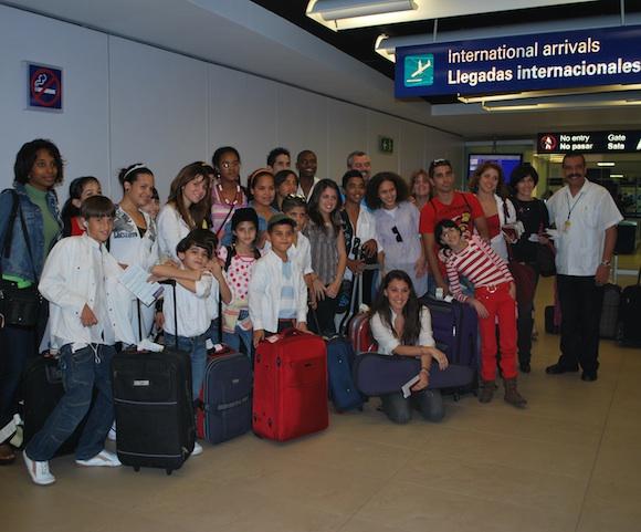 La Colmenita a su llegada al DF. Foto: Dianik Flores.