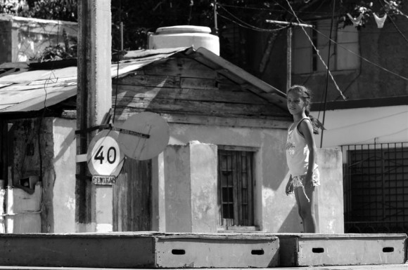 La tarima vacía. Foto: Roberto Chile