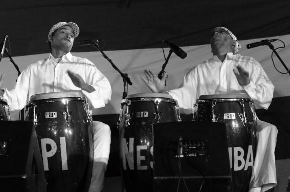 Los tambores de Los Papines. Foto: Roberto Chile