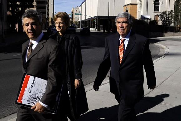 Luis Posada Carriles a su llegada a la corte de El Paso.