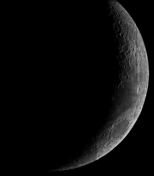 Luna creciente, creada por el belga Andy Strappazzon. La foto fue capturada por uno de los telescopios de La Silla en junio de 2002.