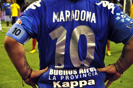 El gran Diego Maradona hace pocos días en Mar del Plata. Foto: Kaloian