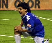 Diego Maradona en el juego en Mar del Plata. Foto: Kaloian