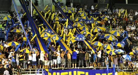 Aficionado argentinos acudieron al juego. Foto: Kaloian