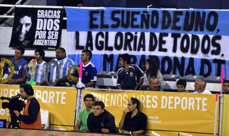 Juego de fútbol en Mar del Plata en el que participó Diego Maradona. Foto: Kaloian