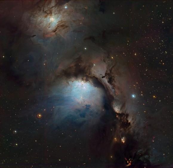 Imagen de la nebulosa Orion, procesada por Chekalin. La foto fue capturada ene enero de 2005 por uno de los telescopios del observatorio La Silla en Chile.