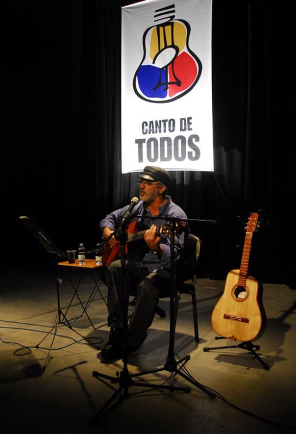 Pepe Ordaz, Canto de Todos, Casa del Alba. Foto: Iván Soca