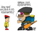 Caricatura tomada de Desde Adentro, blog del Colectivo de Prensa Estudiantil
