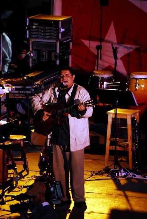 Silvio Rodríguez en La Hata. Foto: Iván Soca