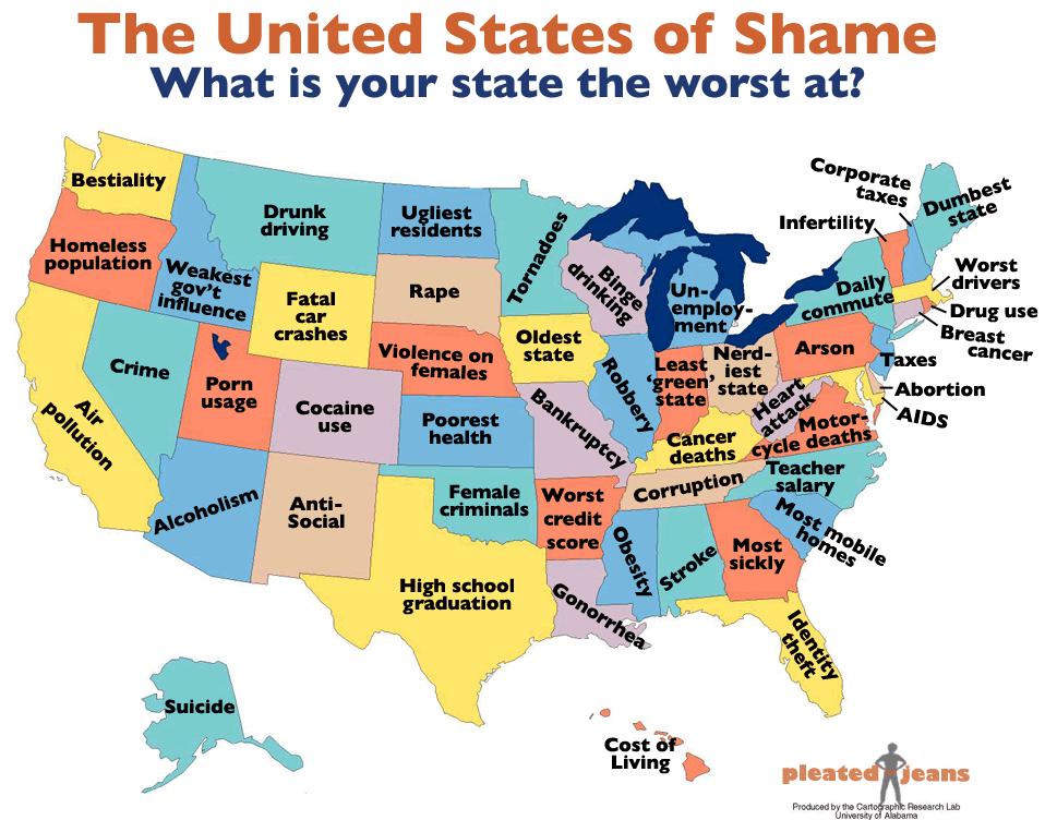 Los Estados Unidos de la vergüenza