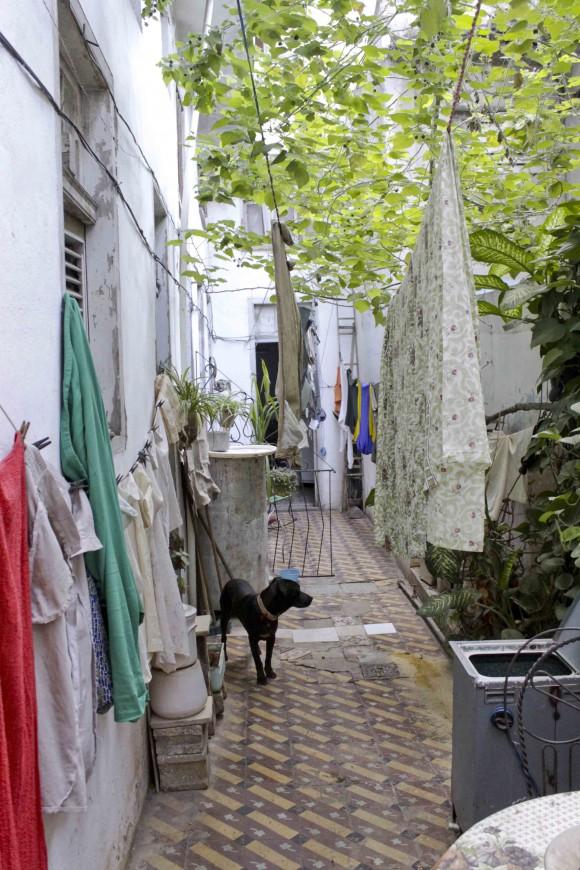 El patio donde se oyó la tradicional. Foto: Alejandro Ramírez Anderson