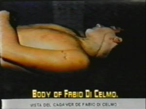 El cadáver de Fabio di Celmo.