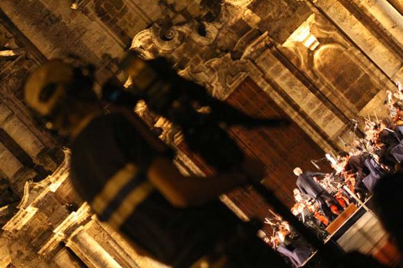 Concierto de la Orquesta Sinfonica del ISA en La Catedral. Foto:10K