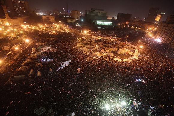 Celebraciones en la Plaza Tahrir