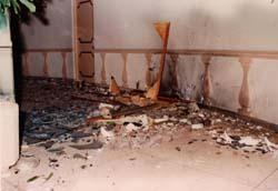 La explosicón en el Hotel Capri, en El Vedado, La Habana.