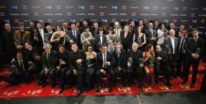 Los ganadores de los Goyas 2011 en la foto oficial de la Ceremonia
