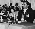 Imagen de archivo del dictador haitiano Jean-Claude Duvalier, hijo de Francois Duvalier, en 1976.