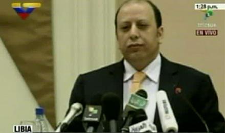 Ministro libio. Foto: Captura de Telesur/ Noticias 24