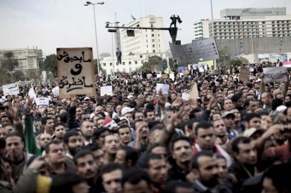 Protestas en Egipto. Foto: AFP