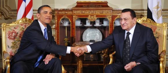 Obama y Mubarak en El Cairo, el 4 de junio de 2009. Foto: AFP