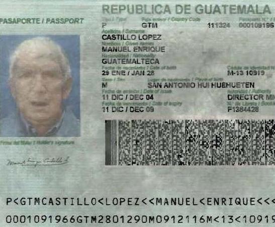 El Pasaporte utilizado por Posada Carriles.