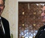 Hosni Mubarak y Anthony Blair