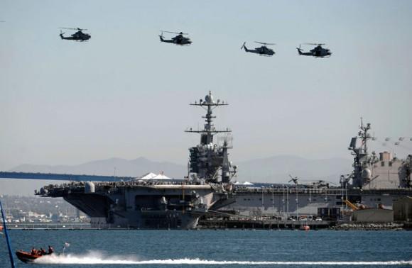 Portaaviones norteamericano. Foto: Reuters
