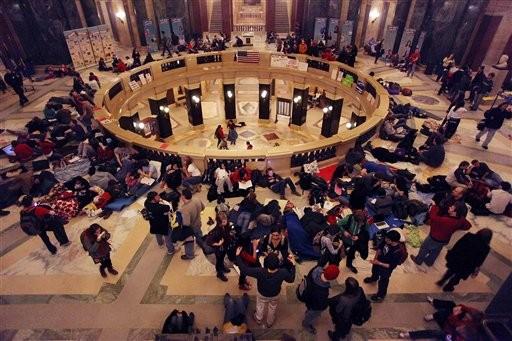 Protestas en Wisconsin. Foto: AP