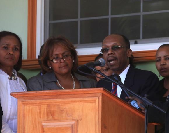 Aristide en Haití. Foto: EFE
