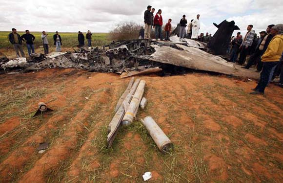 Un avión F15E norteamericano se estrelló en Libia por fallas mecánicas, según informó el portavoz. Foto: Reuters