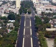 Calle Paseo en La Habana, al igual que todas las vías que conducen a la Plaza de la Revolución, ha sido reparada para la conmemoración