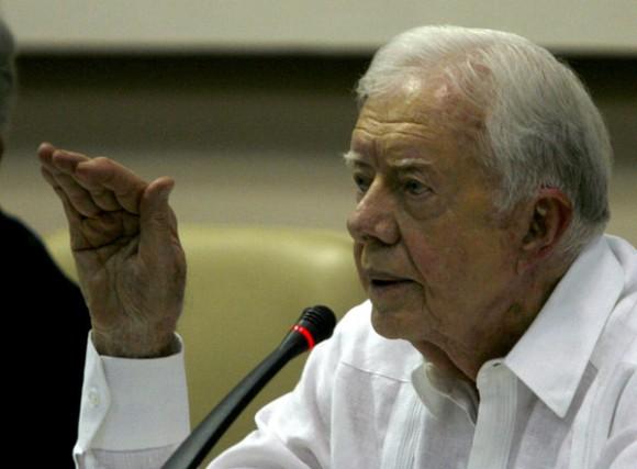James Carter durante la Conferencia de Prensa. Foto: Ismael Francisco