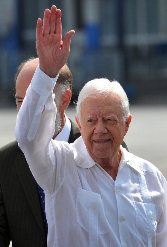 Carter en Cuba. Foto: Alejandro Ernesto/ EFE