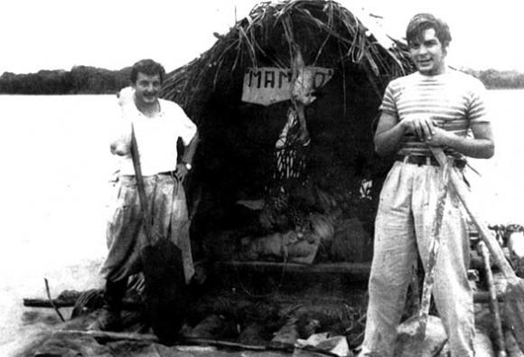 Alberto y Ernesto, durante su aventura por América Latina.