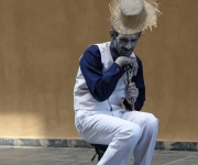 Estatua viviente en La Habana Vieja
