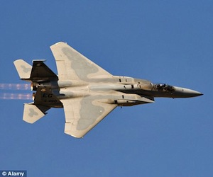 El avión F15E, del Ejército de los EEUU, utilizado contra Libia.