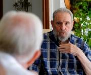 encuentro de Fidel y Carter en La Habana, al término de una visita de tres días que realizara el ex Presidente de Estados Unidos. Foto: Alex Castro
