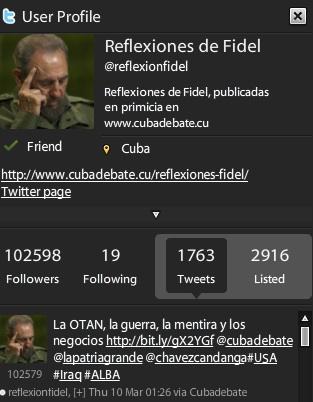 Twitter de Reflexiones de Fidel