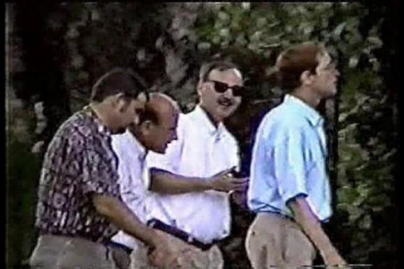 Frank Carlos y funcionarios de la SINA