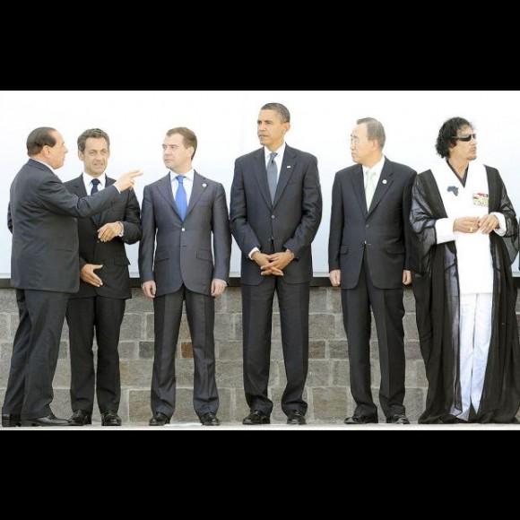 Recibido por los jerarcas del G-8