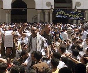 Los hombre desplazaron a las mujeres en la protesta. Foto: Tomada de Al Jazeera