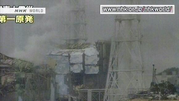 Fukushima, imagen de la TV japonesa.