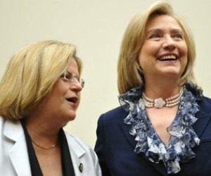 La Loba Feroz y la Secretaria de Estado. Foto: El Nuevo Herald.
