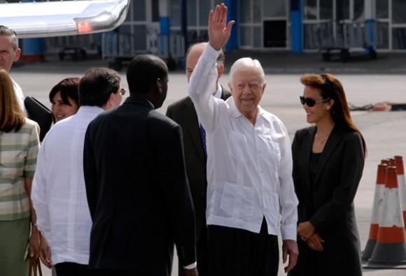 Carter en La Habana. Foto: Roberto Suárez