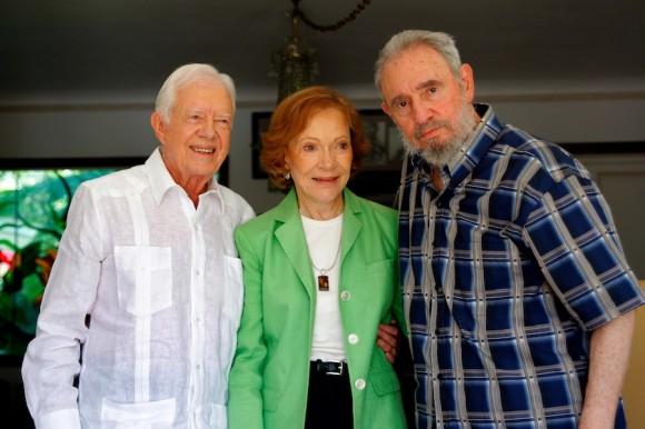 Carter, su esposa Rosalynn y Fidel en La Habana. Foto: Alex Castro/Cubadebate