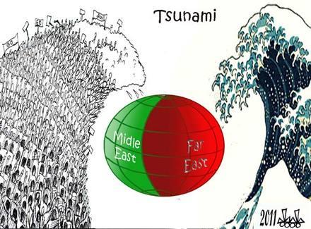Caricatura de Hassan Bleibel Al-Mustakbal (Líbano)