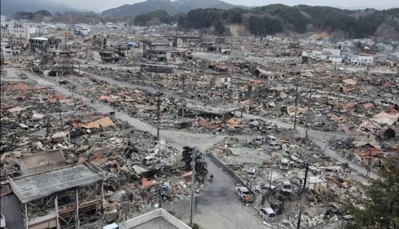 Vista general de las ruinas de Yamada, en la prefectura de Iwate. Foto: AFP