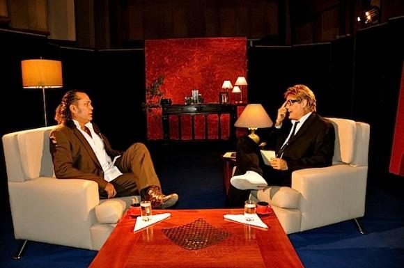 """Luis Alberto García y Amaury Pérez en """"Con 2 que se quieran"""". Foto: Petí"""