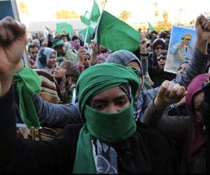 Manifestaciones pro Gadafi en Trípoli.