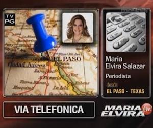 María Elvira declara el 7 de marzo de 2011 desde El Paso a su programa en Miami y transmite parte de la entrevista